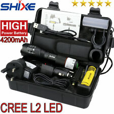 20000lm Genuine SHIXE L2 LED Tactical Flashlight Military Grade Torch UK - G700