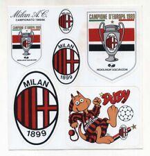 Set 6 adesivi MILAN Calcio 1980-1990 Mediolanum Campione d'Europa stickers Dudy