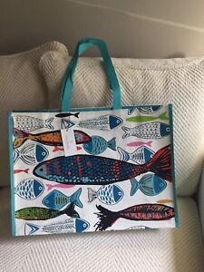 Vera Bradley Market Travel Tote Go Fish NWT Eco-Friendly Reusable