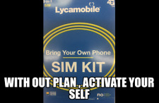 """Lycamobile Sim Card """"Bring Your Own Phone,4G Lte New"""
