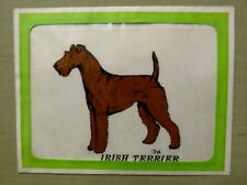 Vintage Nos Irish Terrier Transparent Decal 5x6 inches Mfg by Larklain Products