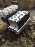 "UK stock - 4V2108-08 24VDC 4 STATION SOLENOID VALVE MANIFOLD ¼"" PORTS"