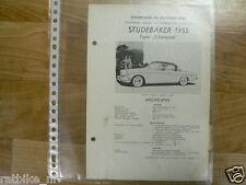 ST01-STUDEBAKER TYPE CHAMPION 1955 -TECHNICAL INFO REGAL COUPE OLDTIMER