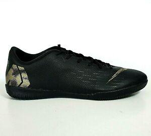 Nike Men's Indoor Soccer Shoes - Size 10 - Vapor 12 Academy Court - Black Gold