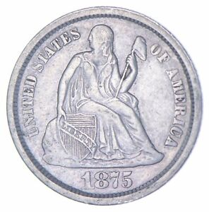 Historic 1875 Seated Liberty Dime *496