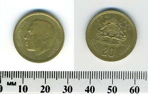 Morocco 1974 (1394) - 20 Santimat Brass Coin - King al-Hassan II