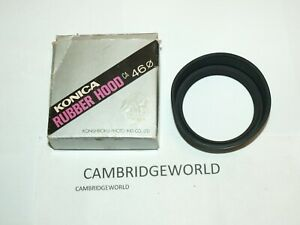 KONICA brand 46mm rubber screw in lens shade hood NEW in KONICA BOXOLD STOCK