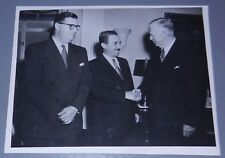 Jewish Judaica israel Press Photo USA Abba Eban Moshe Sharet George Marshall