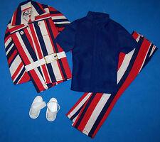 Vintage KEN & BRAD THE CASUAL SCENE #1472 Complete Mod Patriotic Suit 1971