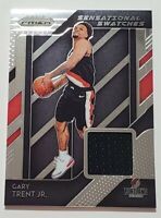 Gary Trent Jr 2018-19 Panini Prizm Sensational Swatches #72 Rookie Relic Patch