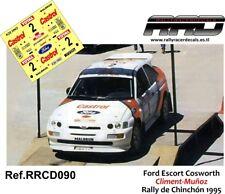 DECAL/CALCA 1/43; Ford Escort Cosworth; Climent-Muñoz; Rally de Chinchon 1995