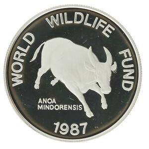 Philippines - Silver 200 Piso Coin - 'WWF: Mindoro Buffalo' - 1987 - Proof