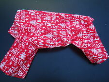 """SALE 20% OFF READ LISTING Merry Christmas red cotton mix 13"""" pet pyjama onepiece"""