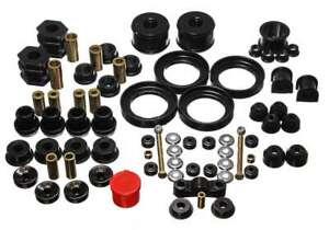Energy Suspension 16-18110G (Kit) Bushing Kit Hyper-Flex Black Polyurethane