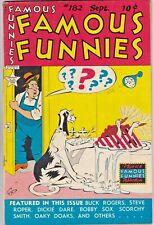 FAMOUS FUNNIES # 182 (EASTERN COLOR) (1949) BUCK ROGERS - STEVE ROPER