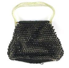 Vintage 1940's- 1950's Kit Purse Clear Lucite Glitter Handbag crocheted
