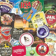 25 British & Irish Pub Beer & Cider Beer Mats Coasters - all different