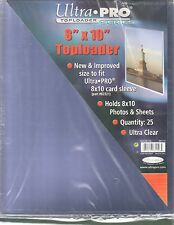 Ultra-Pro 8x10 Toploader Pack of 25 Ultra Clear Holds Photos & Sheets #81146