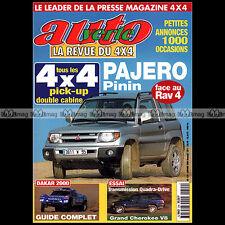 AUTO VERTE N°224 4X4 TOYOTA RAV4 CRUISER TOYOTA HILUX PAJERO PININ DAKAR 2000