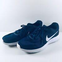Nike Revolution 3 Size UK 10 EUR 45 US 11 Blue Navy White Mens Running Trainers