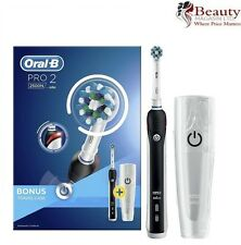 Braun Oral-B PRO2500 Electric Rechargeable Toothbrush Limited Edition Case Black