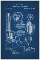 Revolver 1875 Official Patent Blueprint Poster 24x36 inch