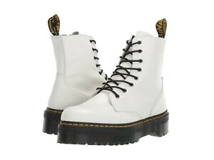 Women's Shoes Dr. Martens JADON Leather 8 Eye Boots 15265100 WHITE SMOOTH