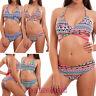 Bikini donna costume bagno mare brasiliana fiocco triangolo culotte nuovo DY7340