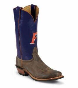 Nocona MDUF21 Men's University Of Florida Blue/Tan Cowhide Branded College Boots