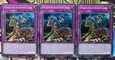 3x Conquistador des goldenen Landes SESL-DE034 SCR 1st DEUTSCH PLAYSET Yu-Gi-Oh