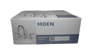 MOEN Banbury 8 in. Widespread 2-Handle Bathroom Faucet in Chrome WS84924