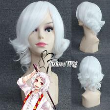 Tokyo Ghoul JUZO SUZUYA / REI 30CM White Short Hair Anime Cosplay Wig + Wig Cap