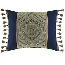 Croscill Hannah 3P Blue Euro Shams Deco Pillow Set NIP