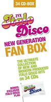 CD Italo Disco New Generation Fan Box 34CDs + Flagge