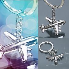Fashion Schlüsselanhänger Keychain Schlüsselring Silber Flugzeug Geschenk neu