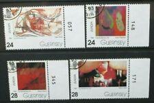 GUERNSEY 1993 Europa: Contemporary Art. Set of 4. Fine USED CTO. SG607/610.