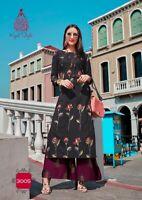 Indian kurta dress With  palazzo  Top Tunic Set blouse Combo Ethnic Bottom-kj07