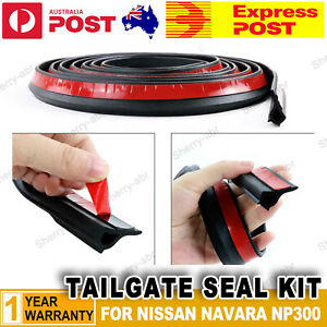 For NISSAN NAVARA NP300 UTE Rubber Dust Tail Gate Seal Tape Tailgate Seal Kit
