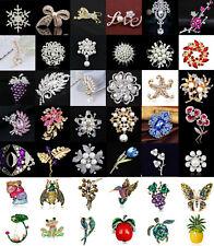 Butterfly Dragonfly Cat Brooch Pin Fashion Wedding Bridal Crystal Pearl Animal
