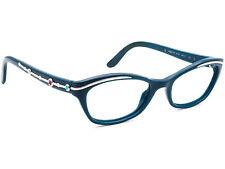 Bvlgari Women's Eyeglasses 4053-B 5176 Teal Cat Eye Frame Italy 50[]17 135