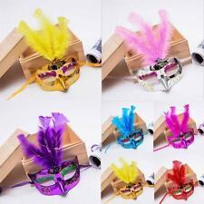 6pcs Hen night party Feather Mardi Gras Fancy Dress Halloween Masks