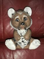 "VINTAGE 5"" CERAMIC BEAR PIGGY BANK PORCELAIN JAPAN"