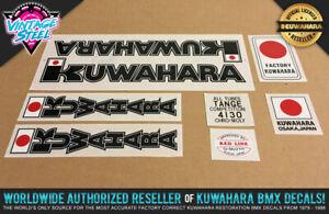 Kuwahara KZ-1 / KZ-2 BMX Decal Set (1981-1982 Black) Official Licensed Product!
