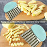 Wavy Stainless Steel Potato Slicer Vegetable Chopper Cutter Kitchen Gadgets Well