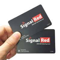 Brand New RFID/NFC Signal Blocking Card Credit Card Thief Read Shield Protectors