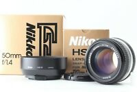 【Top Mint in Box】 Nikon ai-s Nikkor  50mm f1.4 MF Lens w/ Hood From JAPAN ♯0029