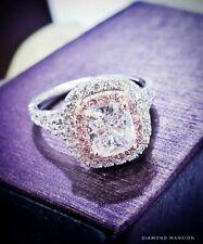 Platinum 3.15 Ct. Cushion Cut Diamond Engagement Ring GIA E, VS2 Stunning