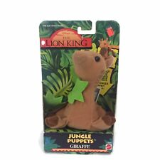 1994 Disney The Lion King Jungle Puppets Plush Stuffed Animal Giraffe Mattel