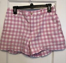 Polo ralph lauren Women's Shorts CHECK PRINT Sz 6 PINK/WHITE EUC