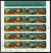 Aquarium Fish Stamp Sheet, Scott #3317 33c 20  MNH
